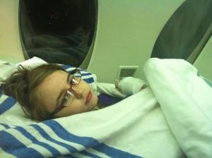 Ryleigh on Air Ambulance